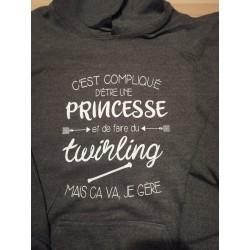 "Sweat gris foncé ""princesse..."
