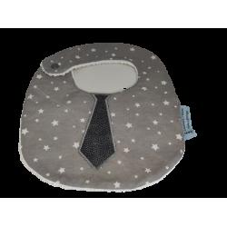 Bavoir cravate gris