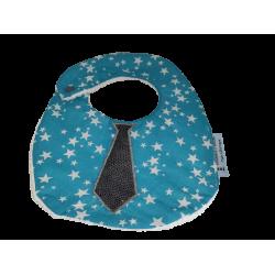 Bavoir cravate bleu