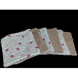 Lingettes lavables motifs...