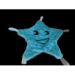 Doudou étoile bleu / gris