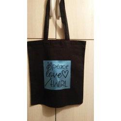 "Tote Bag ""Peace love twirl""..."