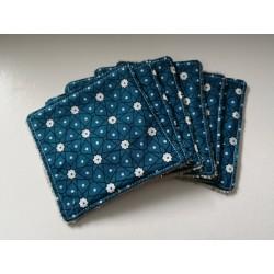 lingettes bleues fleurs